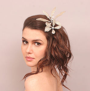 Beaded Flower Bridal Hairpins