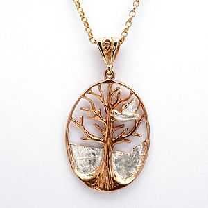 Tree Of Life With Dove Pendant - necklaces & pendants