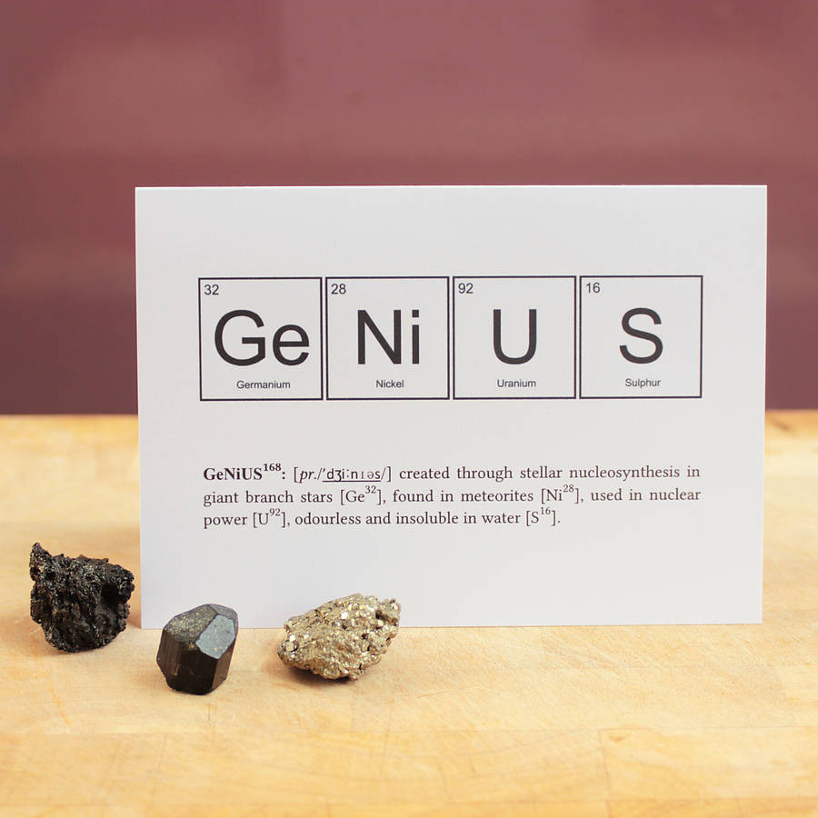 Nerd or genius funny periodic table cards by newton and the apple nerd or genius funny periodic table cards urtaz Choice Image