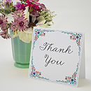 English Summer Garden Personalised Thank You Card