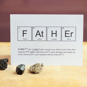 Father Or Mother Humourous Science Card - shop by category
