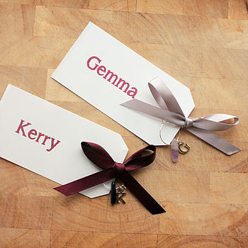 Personalised Wine Charm Place Markers