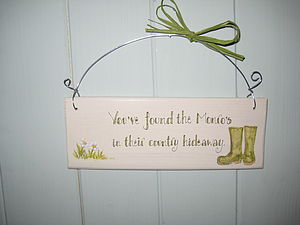 Wellies Country Sign - art & decorations