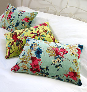 Floral Forest Cushion - bedroom