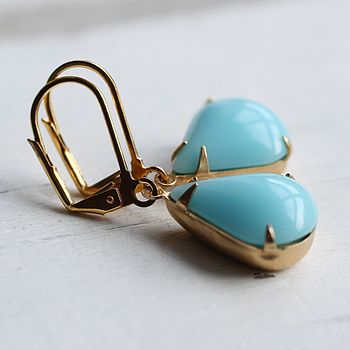 Seafoam Teardrop Earrings