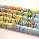 Set Of Five Map Of The UK Pencils