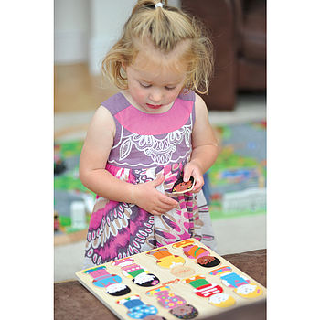 Little girl with Little Friends Puzzle