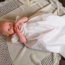 100% Cashmere Lacy Edge Christening Shawl