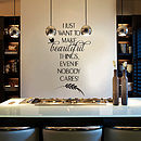 'Beautiful Things' Wall Sticker Decal