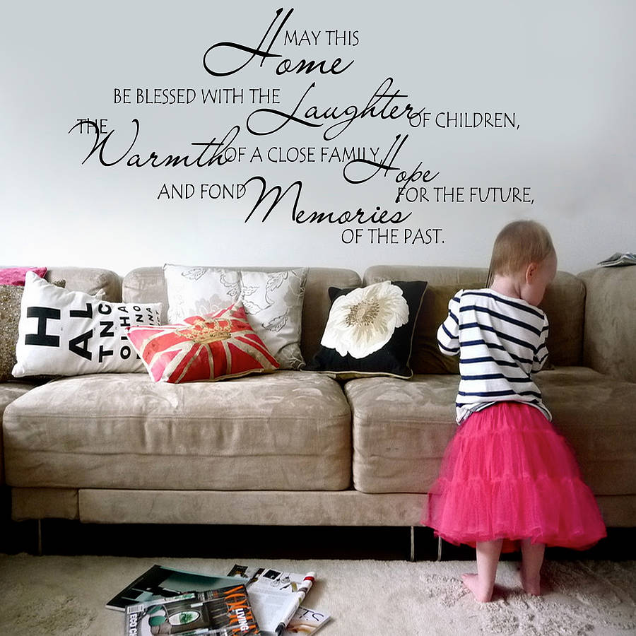 U0027May This Home Be Blessedu0027 Wall Sticker · U0027 Part 51