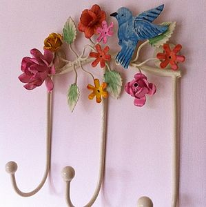 Hummingbird Hooks - bedroom