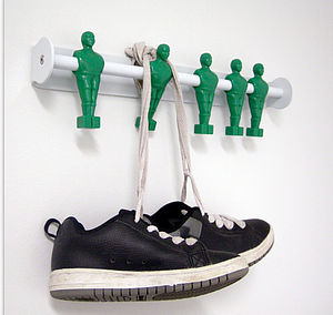 Five A Side Football Coat Hooks - laundry room
