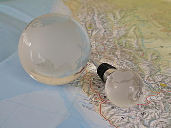 Globe Bottle Stop And Paperweight Set