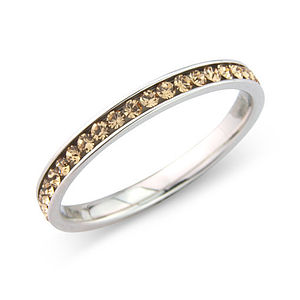 Sterling Silver High Quality Crystal Ring - women's jewellery