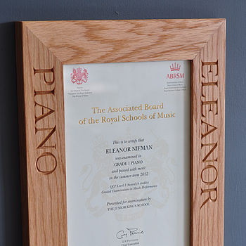 Personalised Solid Oak Frames