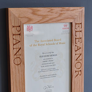 Personalised Solid Oak Frames - 5th anniversary: wood