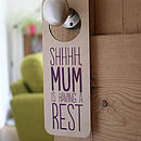 Personalised Door Hanger For Her