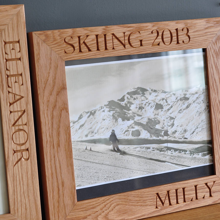personalised solid oak frames by the oak & rope company ...
