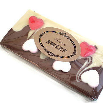 Personalised Love Heart Chocolate Bar