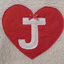 Personalised Red Heart Hot Water Bottle