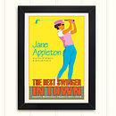 Personalised Vintage Style Ladies Golf Print