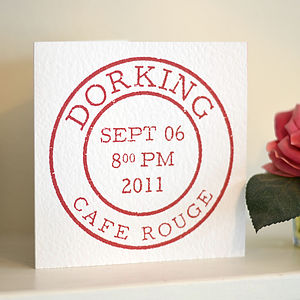 Personalised Postage Stamp Card - christening cards