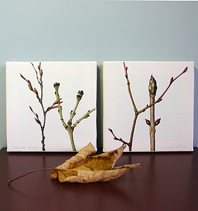 Winter Branches Canvas Prints - gifts for his home