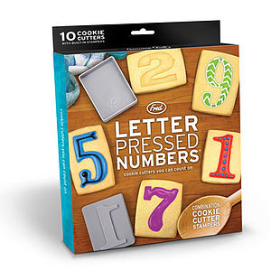 Letter Press Number Cutters - cookie cutters