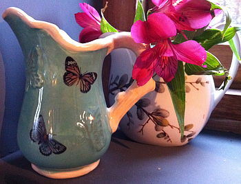 Butterfly Ceramic Milk Jug