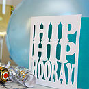 'Hip Hip Hooray' Card