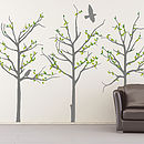 Grey Trees Wall Stickers