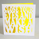 'Make A Wish' Birthday Card