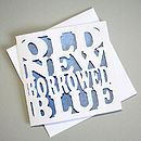 'Old New Borrowed Blue' Card