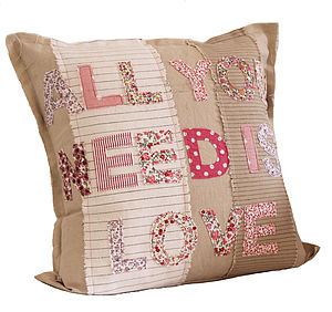 Engagements And Weddings 'All You Need Is Love' Cushion