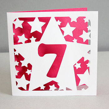 Stars Age Birthday Card
