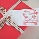 Set Of Five Campervan Gift Tags