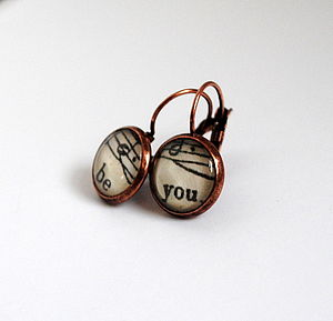 'Be You' Words And Music Earrings