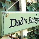 Dad's Personalised Vintage Style Wood Sign