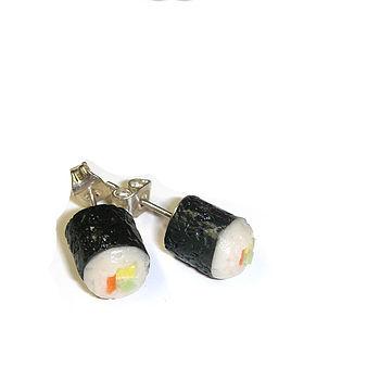 Mini Sushi Stud Earrings