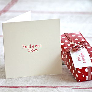 'To The One I Love' Anniversary Card - wedding stationery