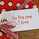 'To The One I Love' Anniversary Card