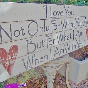 Valentine Or Wedding Statement Sign