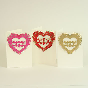 Personalised Heart Of Hearts Card