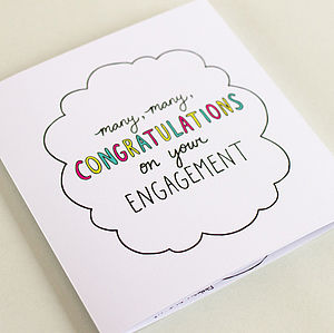 Congrats On Your Engagement – Square Journey Card
