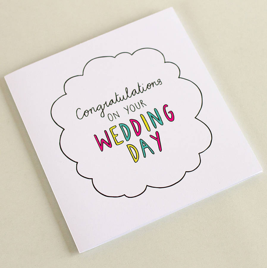 Congrats On Your Wedding Day Square Journey Card By Veronica Dearly