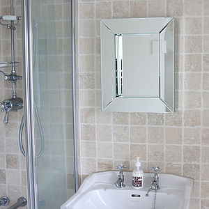 Deep All Glass Bathroom Mirror - mirrors