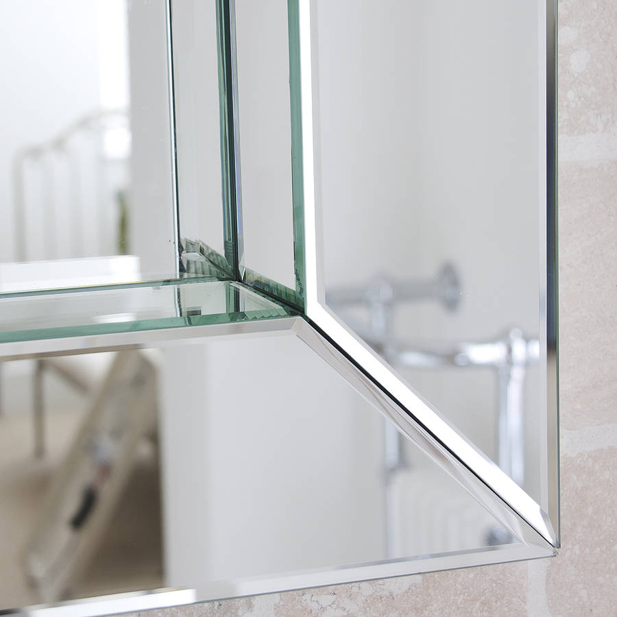 deep all glass bathroom mirror by decorative mirrors