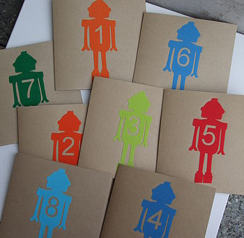 Birthday Age Robot Card