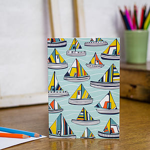 Sailing The Seas Blank Greetings Card