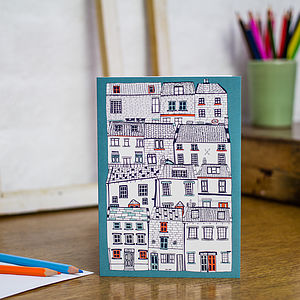 All Stacked Up Blank Greetings Card